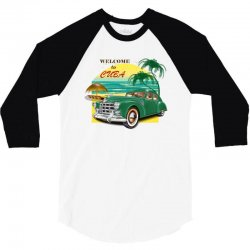 welcome to cuba 3/4 Sleeve Shirt | Artistshot
