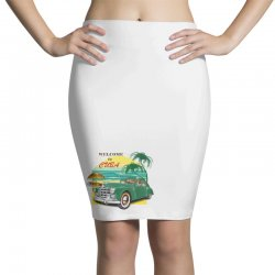 welcome to cuba Pencil Skirts | Artistshot