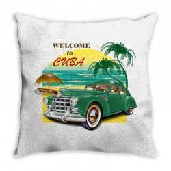 welcome to cuba Throw Pillow | Artistshot