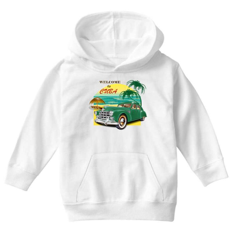 Welcome To Cuba Youth Hoodie | Artistshot