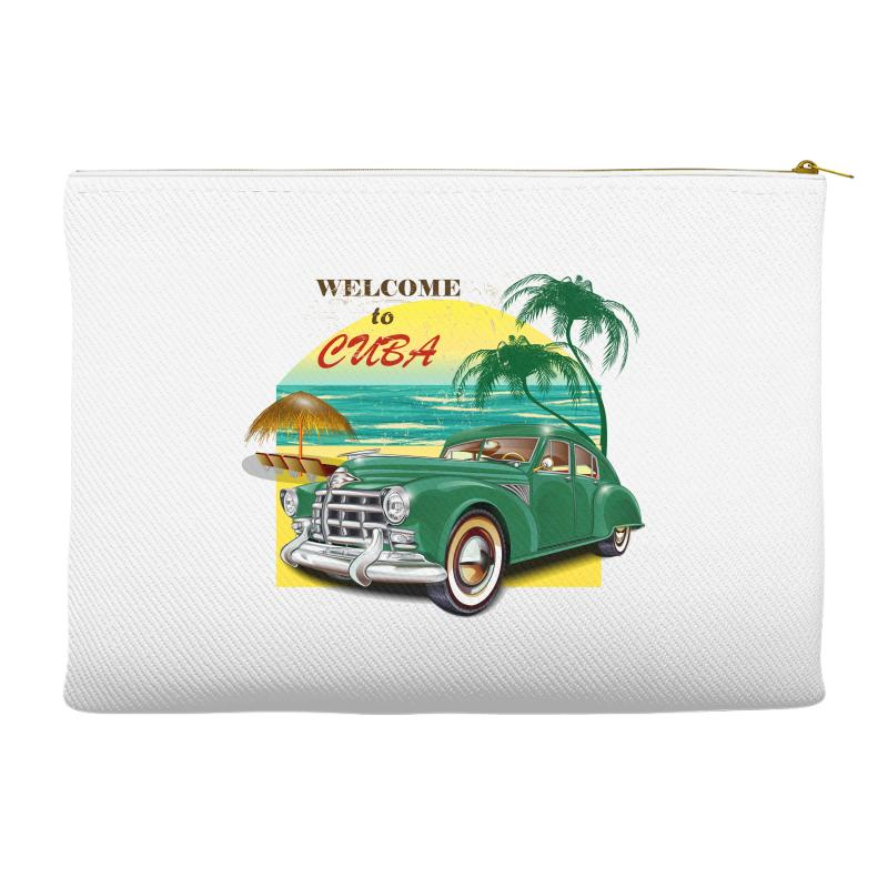 Welcome To Cuba Accessory Pouches | Artistshot