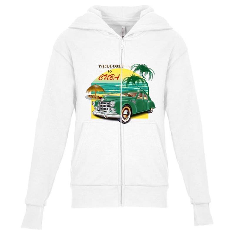Welcome To Cuba Youth Zipper Hoodie | Artistshot