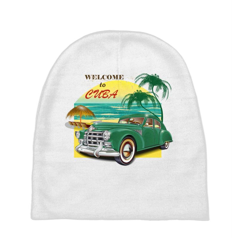 Welcome To Cuba Baby Beanies | Artistshot