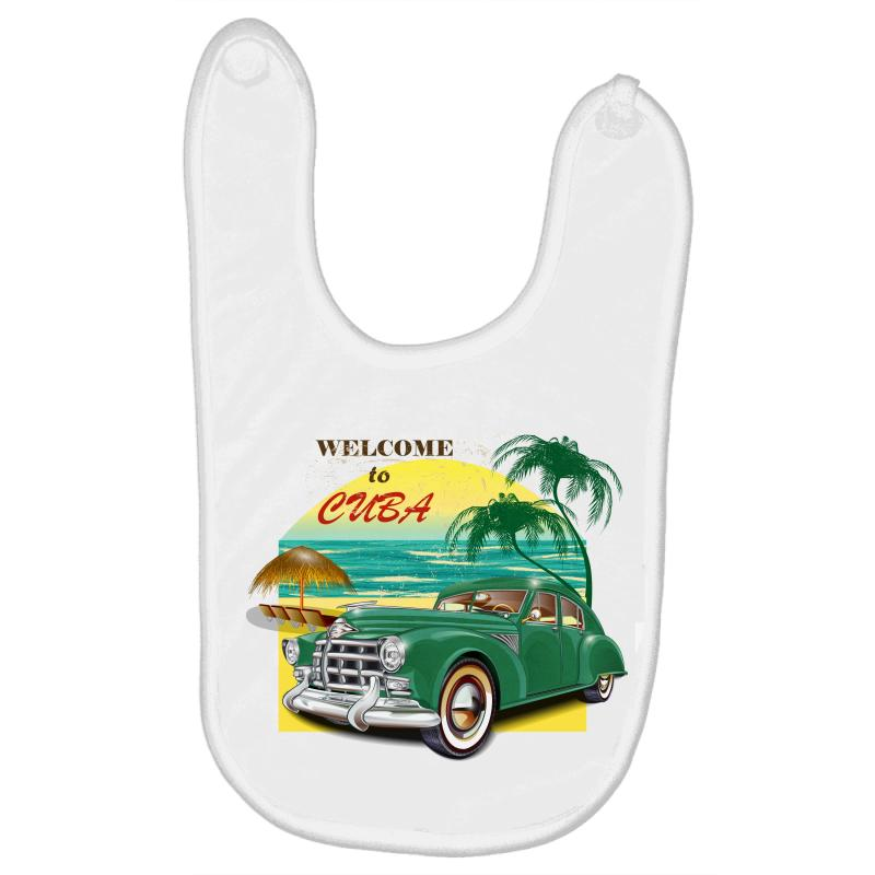 Welcome To Cuba Baby Bibs | Artistshot