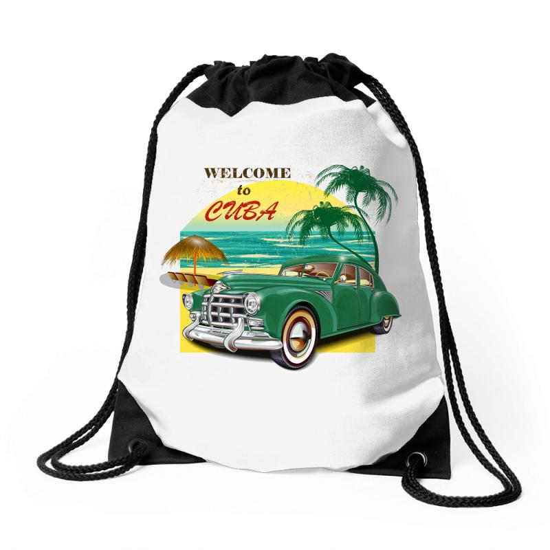 Welcome To Cuba Drawstring Bags | Artistshot