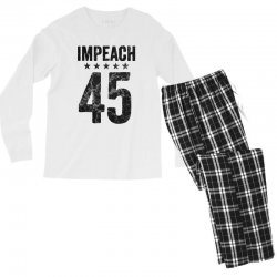 impeach 45   anti trump Men's Long Sleeve Pajama Set | Artistshot
