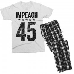 impeach 45   anti trump Men's T-shirt Pajama Set | Artistshot
