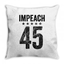 impeach 45   anti trump Throw Pillow | Artistshot