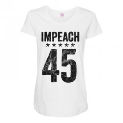 impeach 45   anti trump Maternity Scoop Neck T-shirt | Artistshot