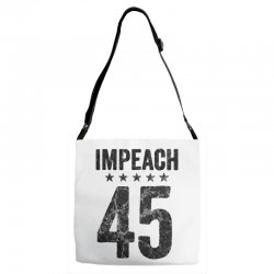 impeach 45   anti trump Adjustable Strap Totes | Artistshot