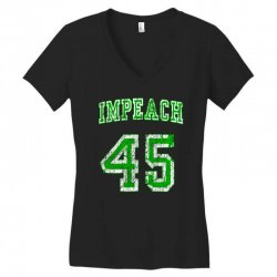 impeach 45 trump Women's V-Neck T-Shirt | Artistshot