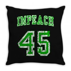 impeach 45 trump Throw Pillow | Artistshot