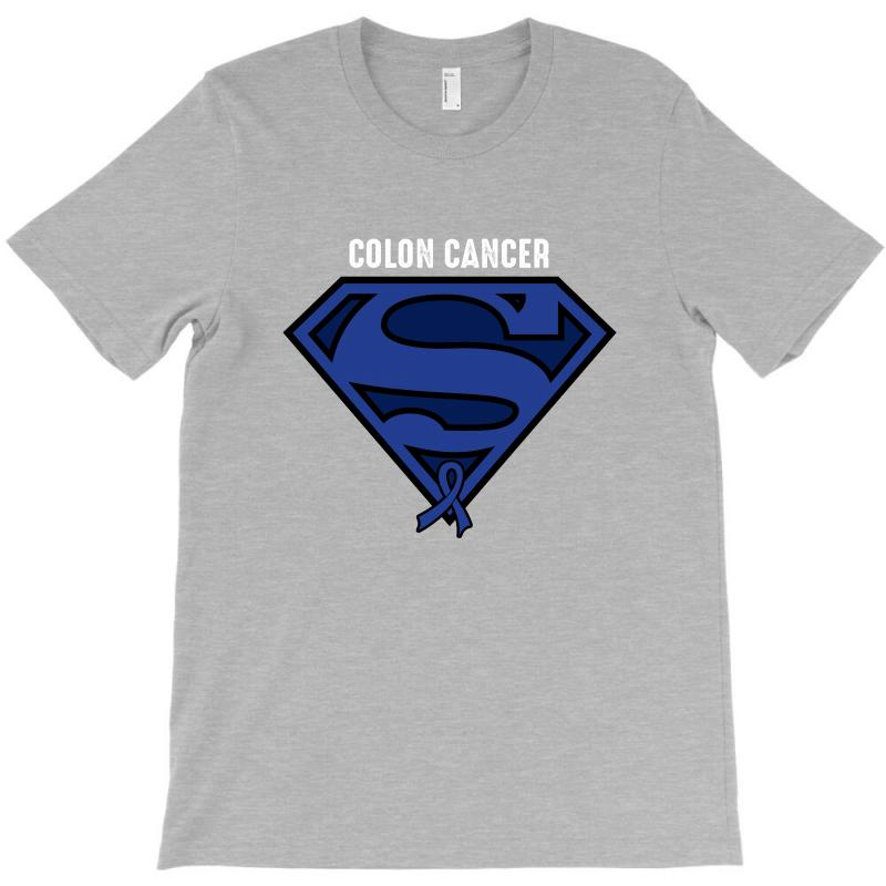 Custom Superman Colon Cancer Survivor For Dark T Shirt By Sengul Artistshot