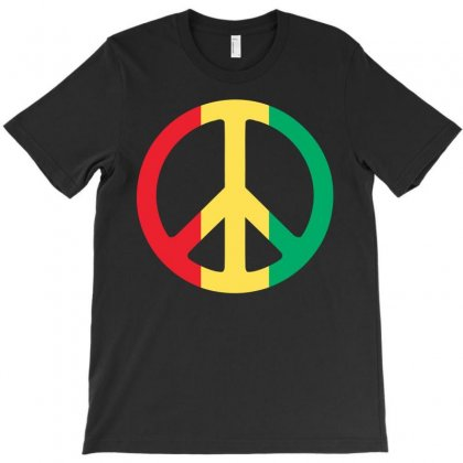 Peace T-shirt Designed By Black White