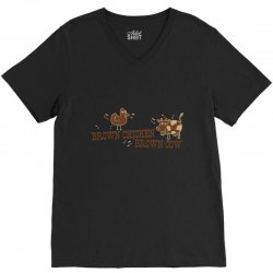 brown chicken brown cow V-Neck Tee | Artistshot