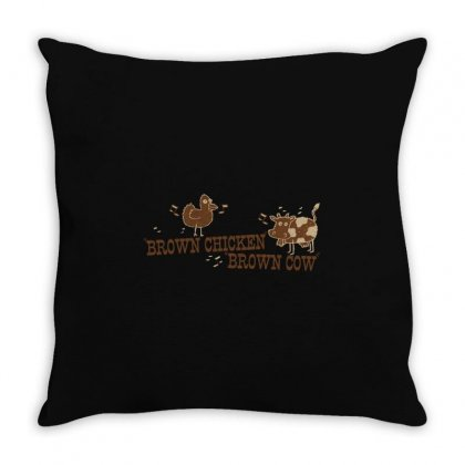 Brown Chicken Brown Cow Throw Pillow Designed By Mdk Art