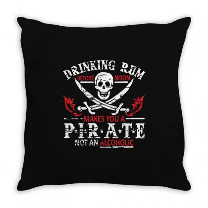 Drinking Rum Before Throw Pillow Designed By Mdk Art