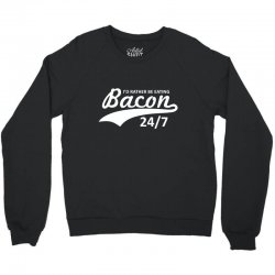 eating bacon Crewneck Sweatshirt | Artistshot
