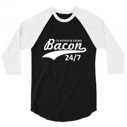 eating bacon 3/4 Sleeve Shirt | Artistshot