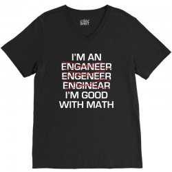 engineer math V-Neck Tee | Artistshot
