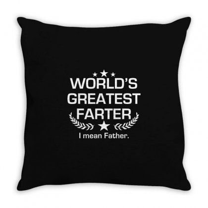 Greatest Farter Throw Pillow Designed By Mdk Art