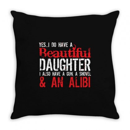 Gun Alibi Throw Pillow Designed By Mdk Art