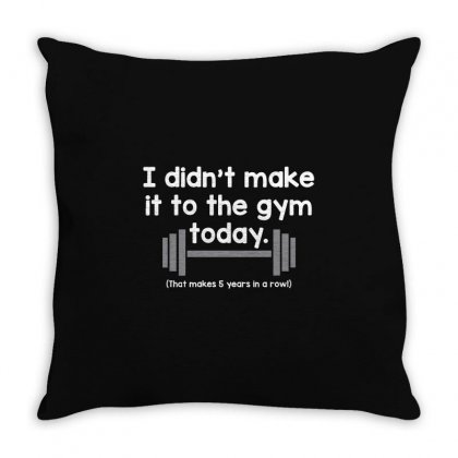 Make Gym Throw Pillow Designed By Mdk Art