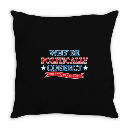Politically Correct Throw Pillow Designed By Mdk Art