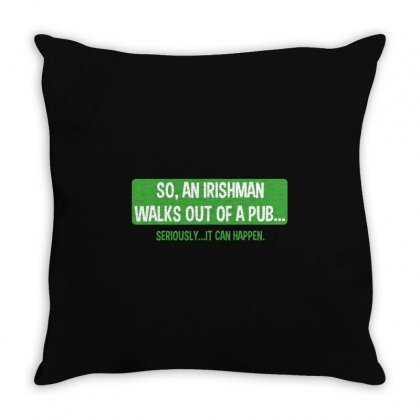 Irish Man Throw Pillow Designed By Mdk Art