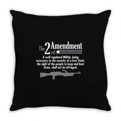 Amendment Throw Pillow Designed By Mdk Art