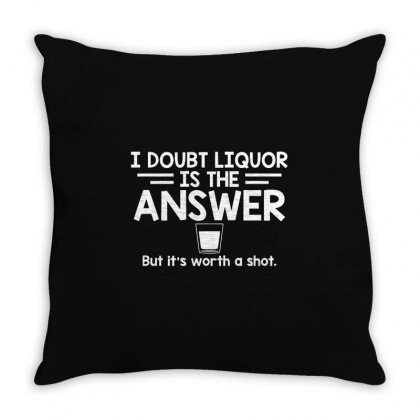 Answer Shot Throw Pillow Designed By Mdk Art