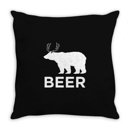 Beer Animal Throw Pillow Designed By Mdk Art