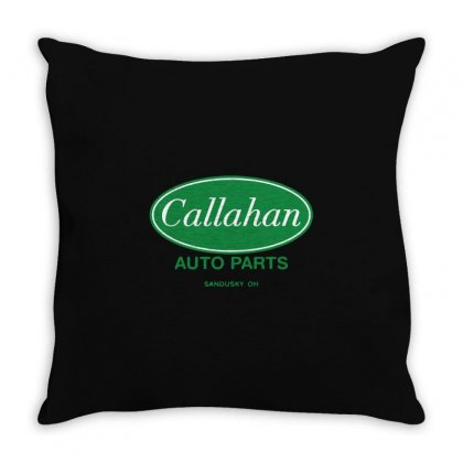 Callahan Auto Parts Throw Pillow Designed By Mdk Art