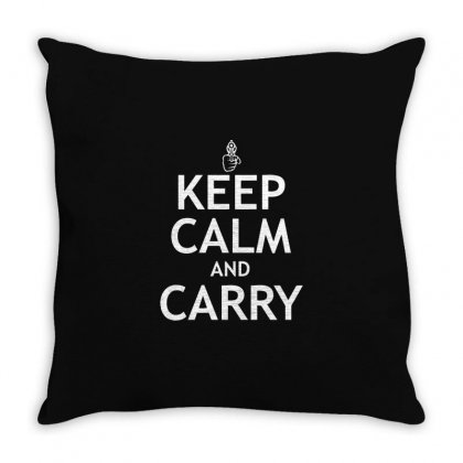 Calm Carry Throw Pillow Designed By Mdk Art