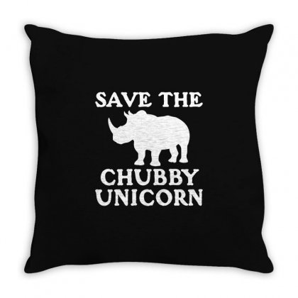 Chubby Unicorn Throw Pillow Designed By Mdk Art