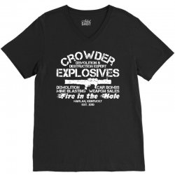 crowder explosives V-Neck Tee | Artistshot