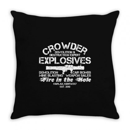 Crowder Explosives Throw Pillow Designed By Mdk Art