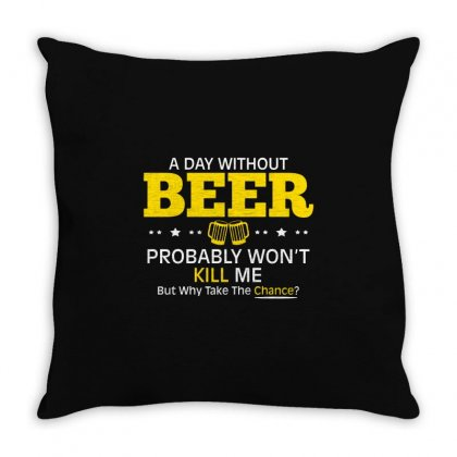 Day Beer Throw Pillow Designed By Mdk Art