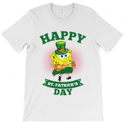 Spongebob St Patrick Day T-shirt Designed By Sengul