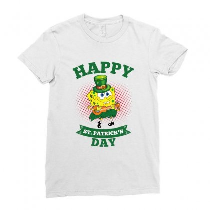 Spongebob St Patrick Day Ladies Fitted T-shirt Designed By Sengul