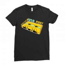 doesn't fit in usb port Ladies Fitted T-Shirt | Artistshot