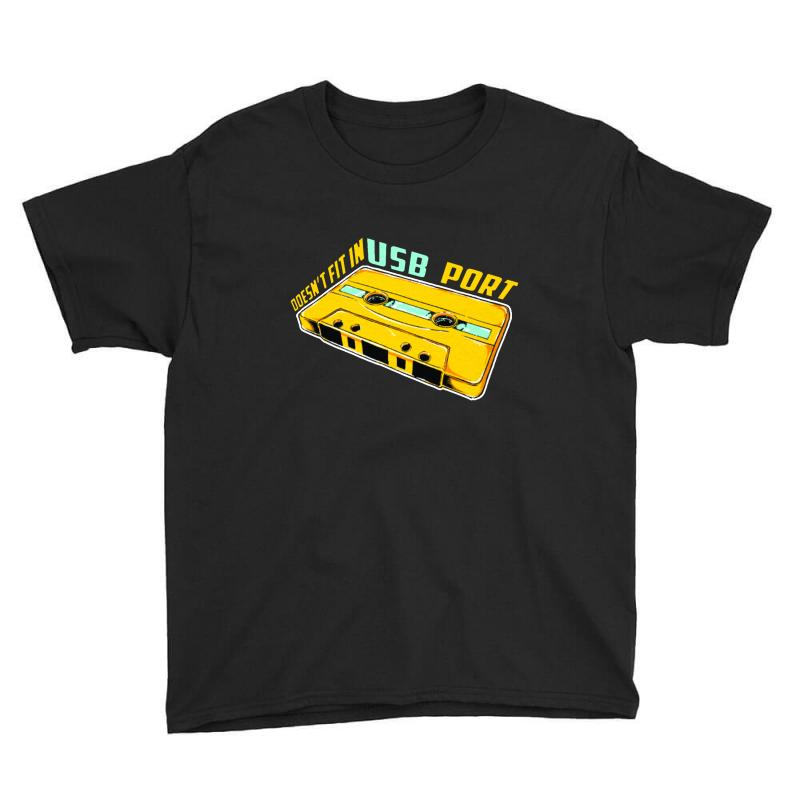 Doesn't Fit In Usb Port Youth Tee | Artistshot