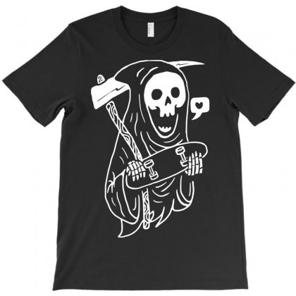 Grim Skater T-shirt Designed By Quilimo