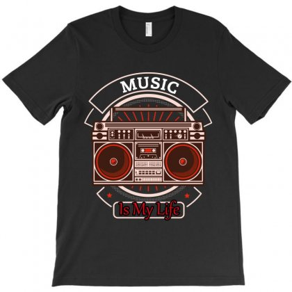 Music Is My Life T-shirt Designed By Wizarts