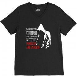 possiblities endless sarcastic cool graphic V-Neck Tee | Artistshot