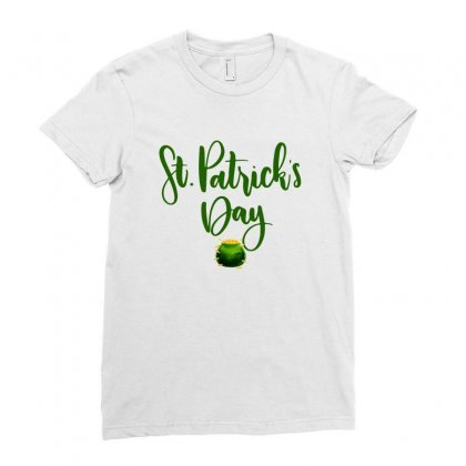 St Patrick's Day Ladies Fitted T-shirt Designed By Nurbetulk