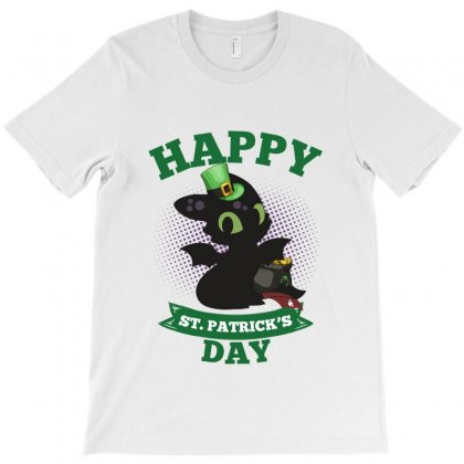 Happy St Patricks Day Toothless T-shirt Designed By Sengul