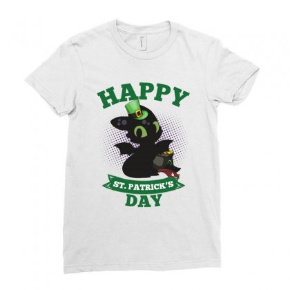 Happy St Patricks Day Toothless Ladies Fitted T-shirt Designed By Sengul