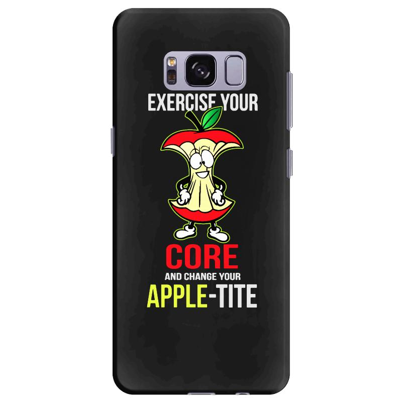 6a32266a15b exercise your core and change your apple tite (appetite) Samsung Galaxy S8  Plus Case