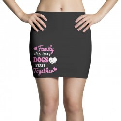 family who loves dogs stays together Mini Skirts | Artistshot
